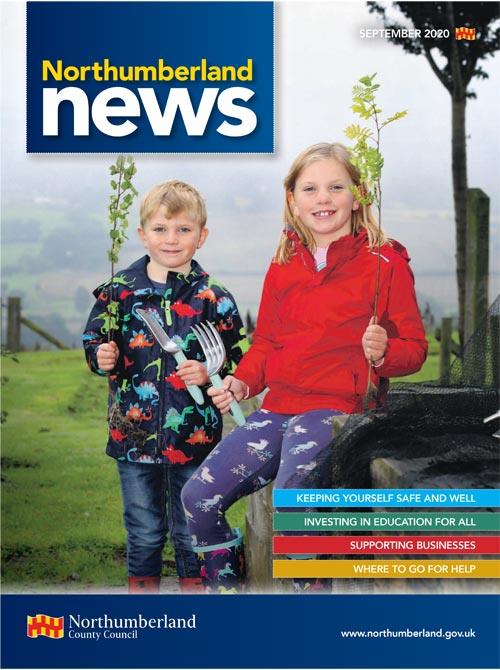 Northumberland News September 2020 front cover