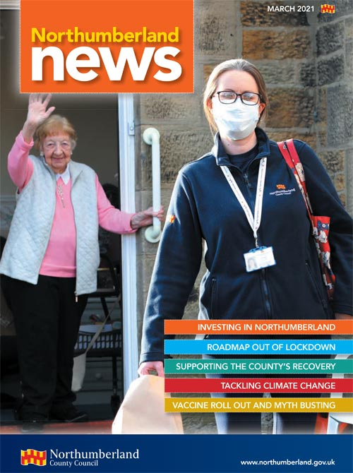 Northumberland News March 2021 front cover