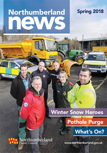 Northumberland News Spring 2018 front cover