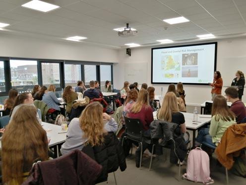 University students present ideas for flood management