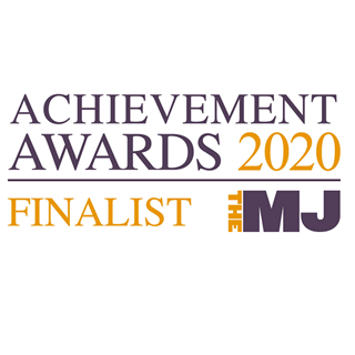 Banner reading Achievement Awars 2020 Finalist The MJ