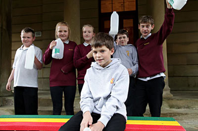 Image showing School recycling