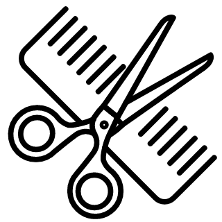 Scissors and comb from a hair salon
