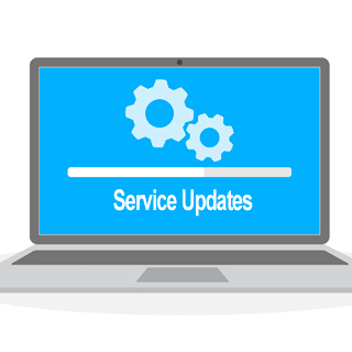 Screen showing service updates