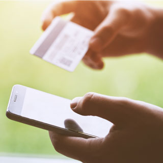 Paying for service via phone and card