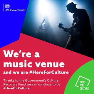 Here for culture - Thanks to the Government's Culture Recovery Fund we can continue to be #Here For Culture