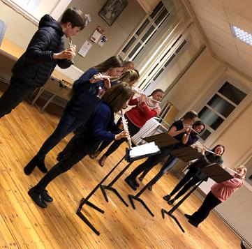 Magic Flutes practising