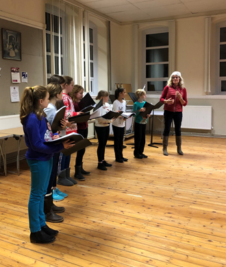 Northumberland Youth Voices group practising singing