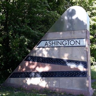 Waymarker for Ashington