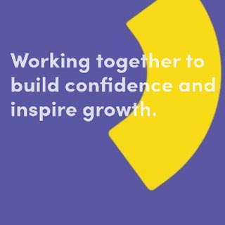Bridge logo - quote Working together to build confidence and inspire growth