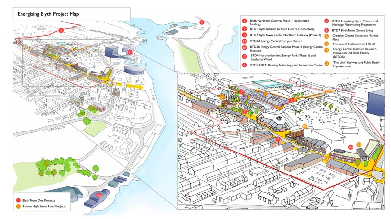 Energising Blyth Project Map - all proposed plans for Blyth