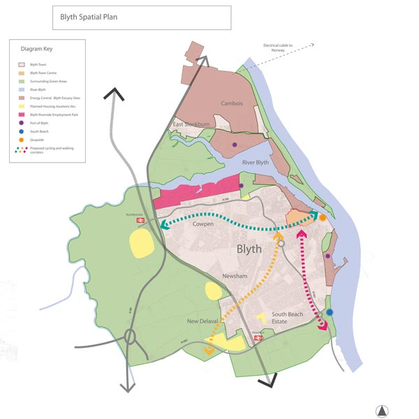 Map of Blyth Spatial Plan