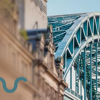 A photo of the Tyne bridge