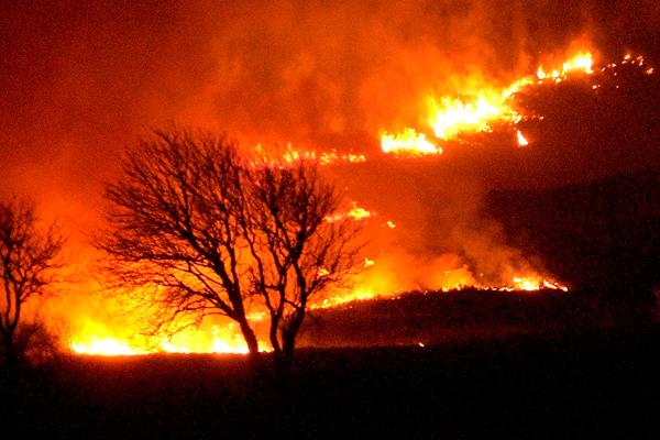 Image demonstrating Please be #WildfireAware