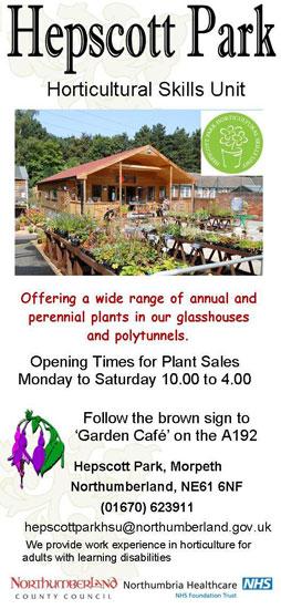 Hepscott park, Horticultural Skills Unit leaflet