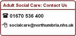 Adult social Care contact. Listed below