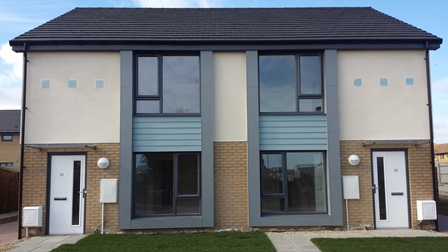 New Housing at Dansfield Square, Amble