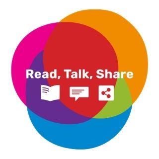Read, Talk, Share Logo