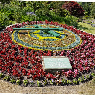 Image showing Morpeth Floral Clock