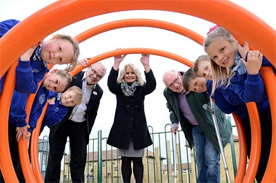 All smiles as children open new Amble play area