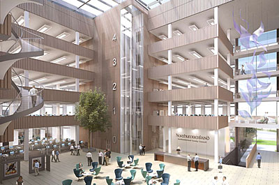 New images of proposed new streamlined County Hall for Northumberland