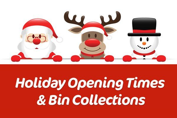Image demonstrating Holiday bin collections and service opening times this Christmas