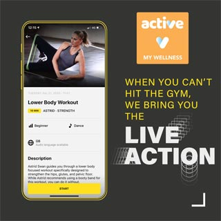 Image demonstrating New online fitness experience launched