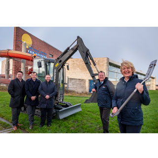 Turf cutting ceremony for  Berwick's new leisure centre