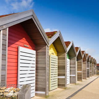 Image demonstrating Blyth beach huts repaired following arson attack