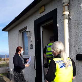 Image demonstrating Full Closure Order served on Berwick property following complaints