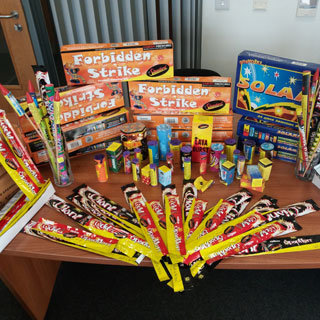 Seized fireworks