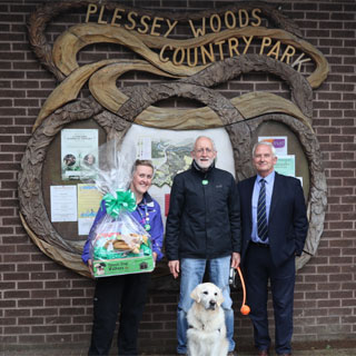 Image demonstrating Northumberland celebrates its 3,000th Green Dog Walker
