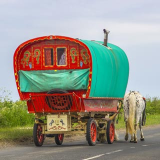 Image demonstrating Motorists beware of horse drawn wagons heading to Appleby