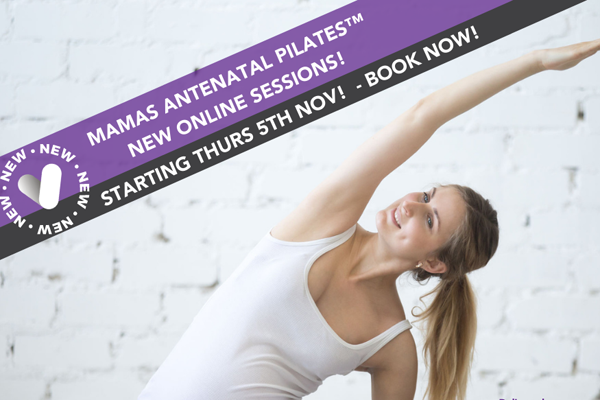 Image demonstrating New online pilates class for mams-to-be