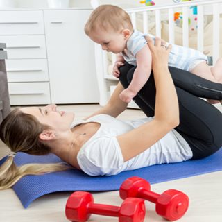 Image showing Online exercise classes for pregnant women and new mams