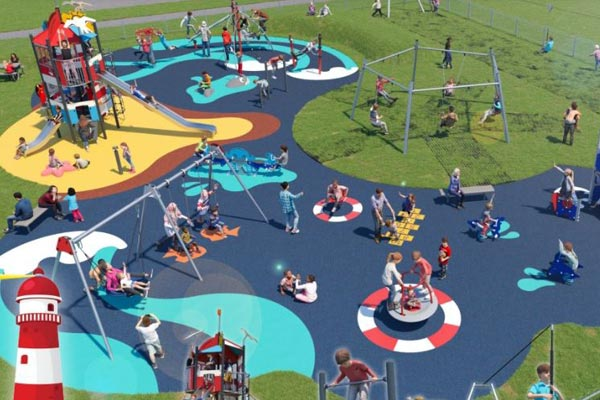 Computer design of a new play area in Newbigginby the Sea