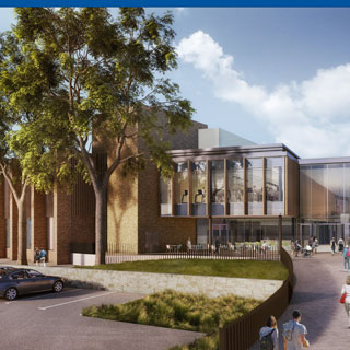 Artists impression of the new Morpeth Leisure Centre