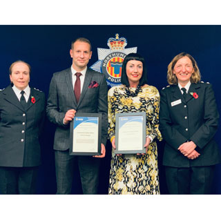 Three Northumberland County Council employees have received prestigious awards for their outstanding contribution to improving community safety.
