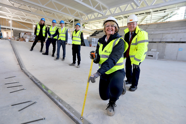Image demonstrating Pool installation starts in flagship new sports centre