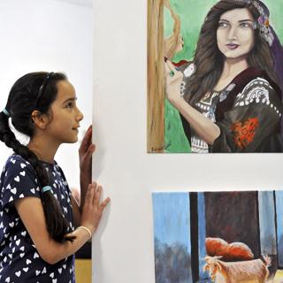 Image demonstrating Refugee art exhibition to open in Cramlington
