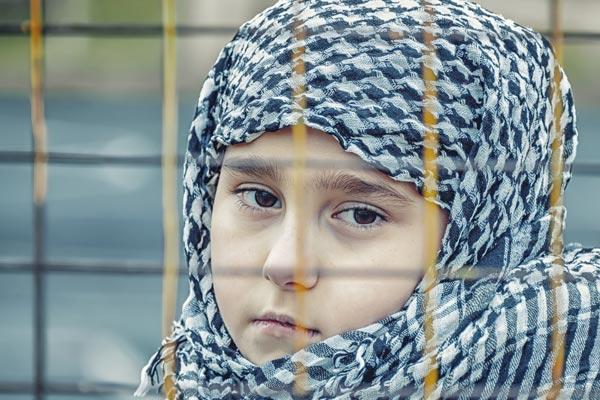 A refugee child