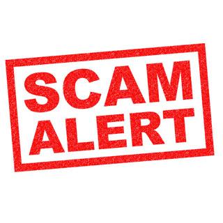 Scam alert stock image