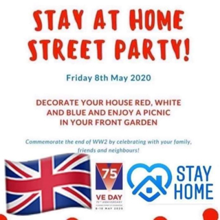 Image demonstrating Call for people to celebrate VE Day with 'Stay at Home' parties