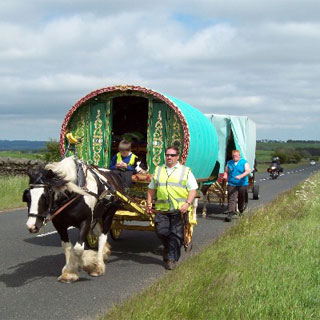 Image demonstrating Motorists to beware of horse drawn wagons returning from Appleby Horse Fair