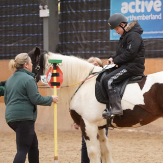 A Riding for the Disabled lesson at the Pegasus Centre