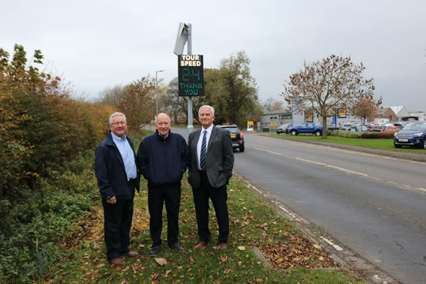 Image demonstrating New sign to improve road safety on approach to Morpeth