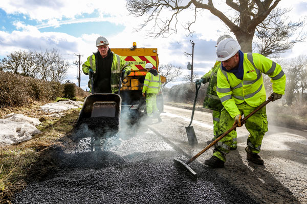 Image demonstrating Further £7m for county's road improvements