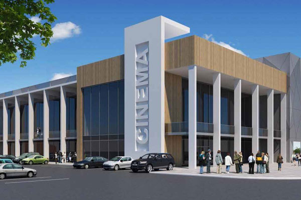 Artist impression of new cinema in Ashington