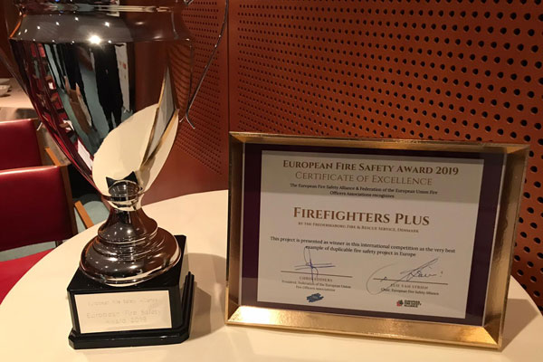 Firefighters plus award European Fire Safety Award 2019