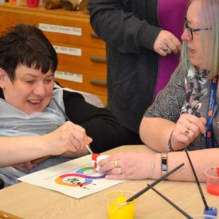 Image demonstrating Learning Disability Nursing centenary rocks